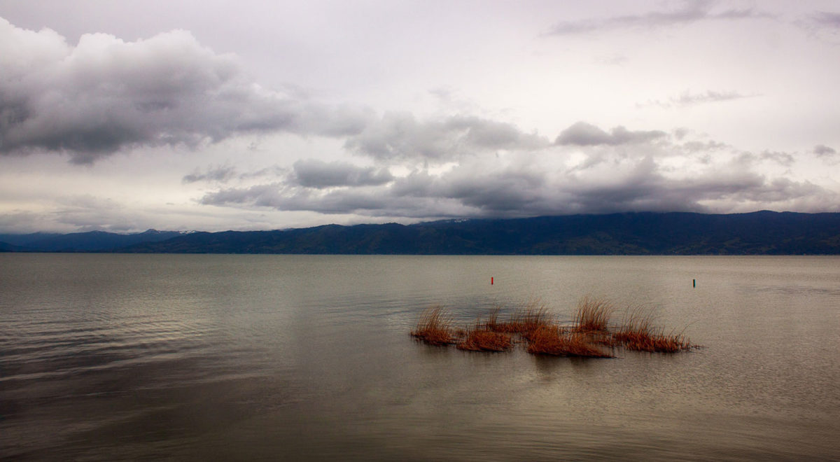 Photo of Clear Lake on a cloudy day