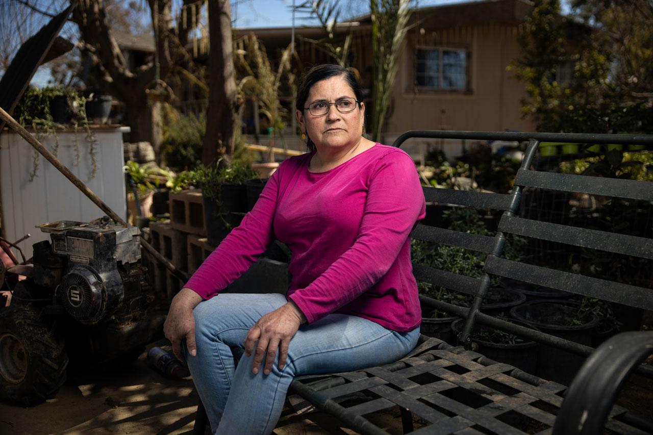 Ramona Hernandez in her garden in El Adobe, CA.